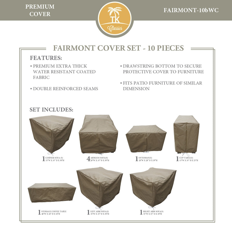 FAIRMONT-10b Protective Cover Set, in Beige