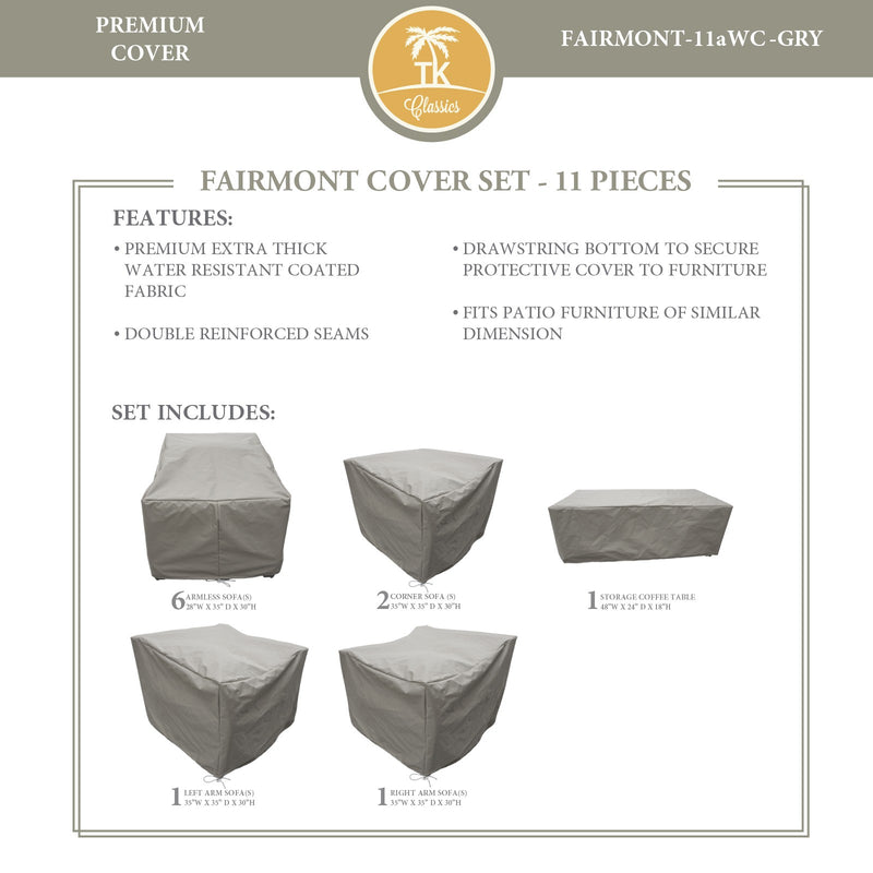 FAIRMONT-11a Protective Cover Set, in Grey