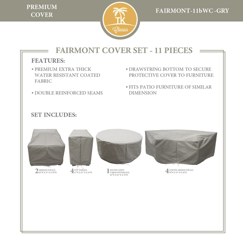 FAIRMONT-11b Protective Cover Set, in Grey