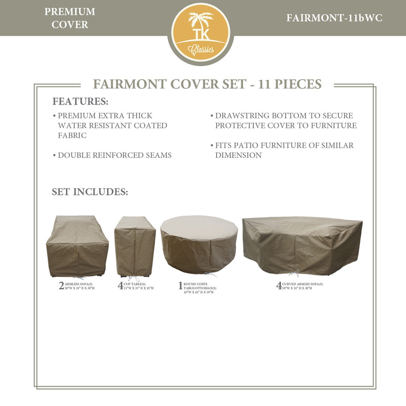 FAIRMONT-11b Protective Cover Set, in Beige