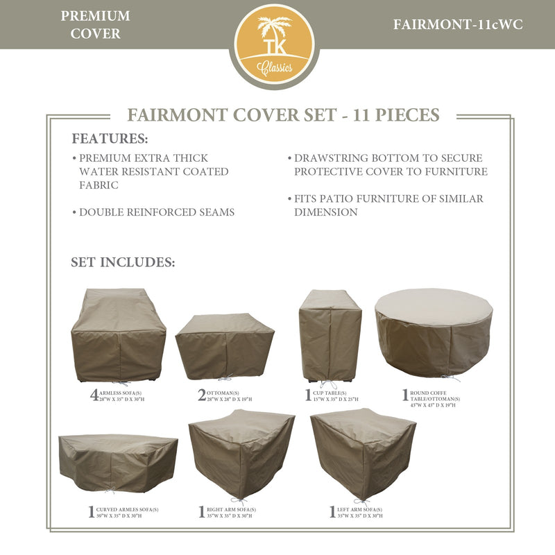 FAIRMONT-11c Protective Cover Set, in Beige