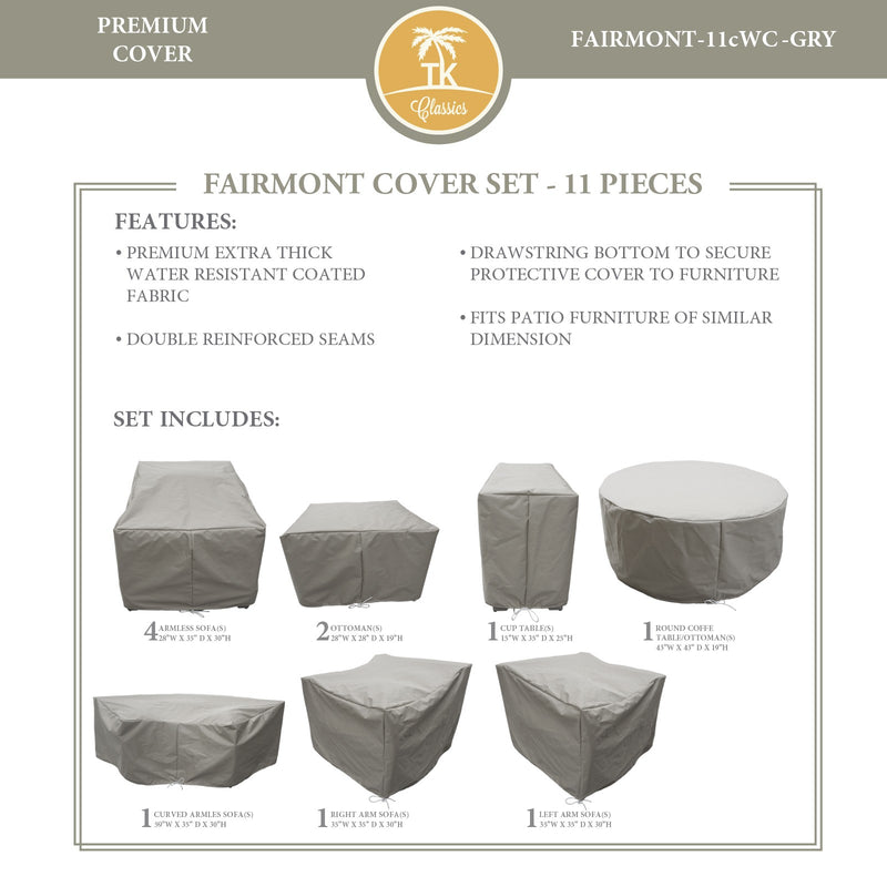 FAIRMONT-11c Protective Cover Set, in Grey