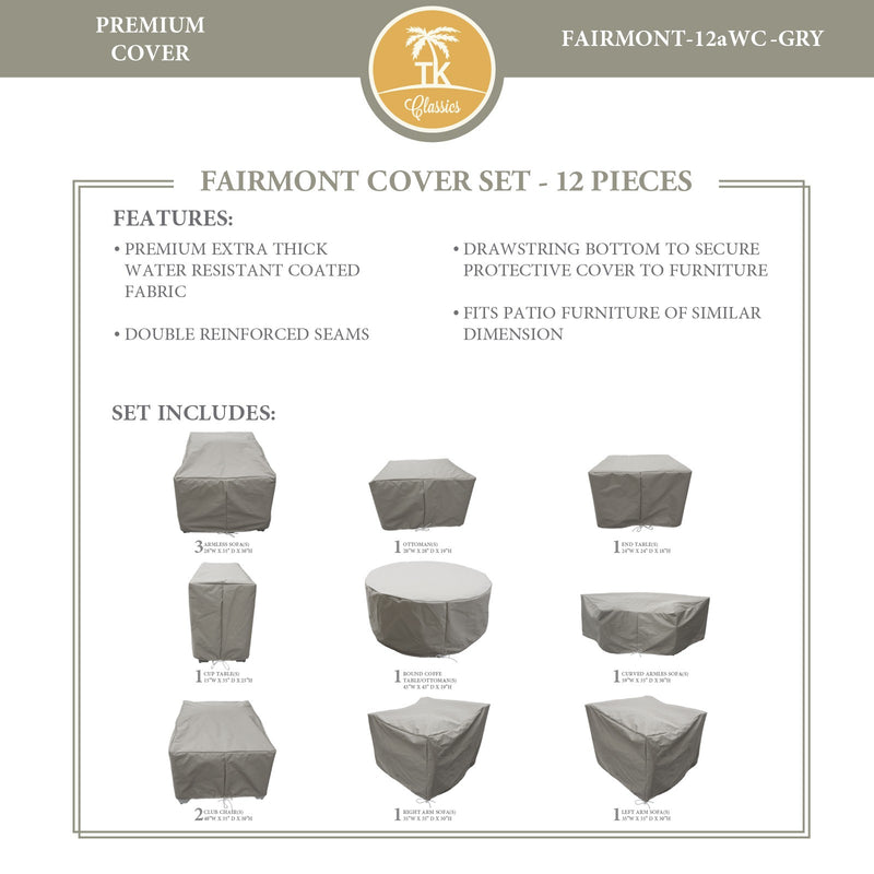 FAIRMONT-12a Protective Cover Set, in Grey