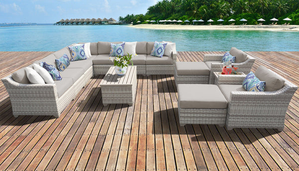 Fairmont 13 Piece Outdoor Wicker Patio Furniture Set 13a