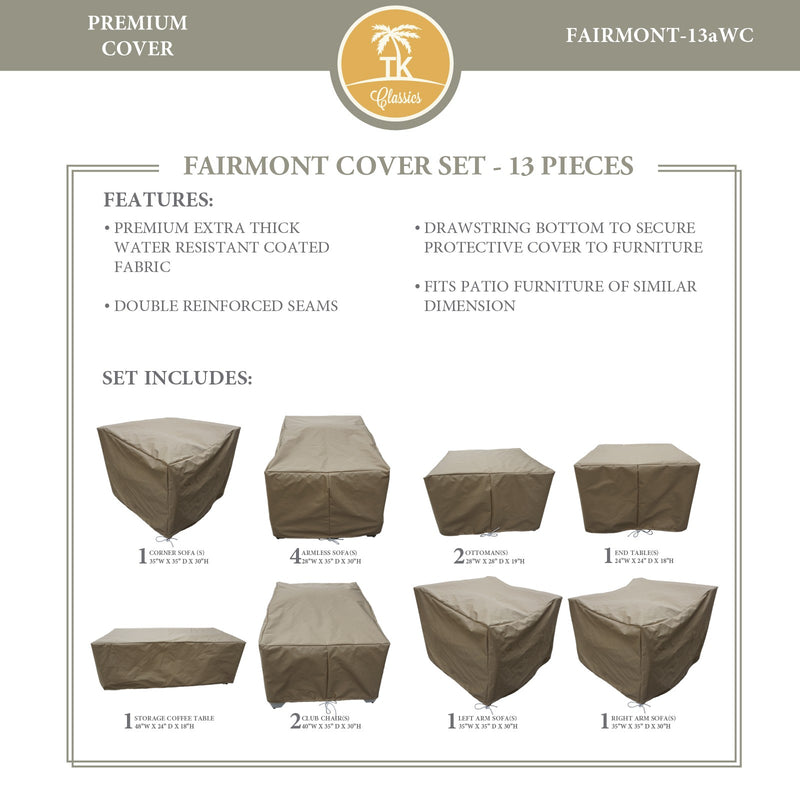 FAIRMONT-13a Protective Cover Set, in Beige