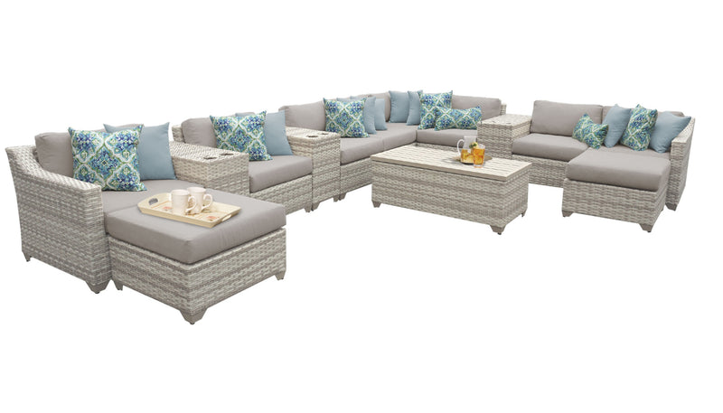 Fairmont 14 Piece Outdoor Wicker Patio Furniture Set 14a