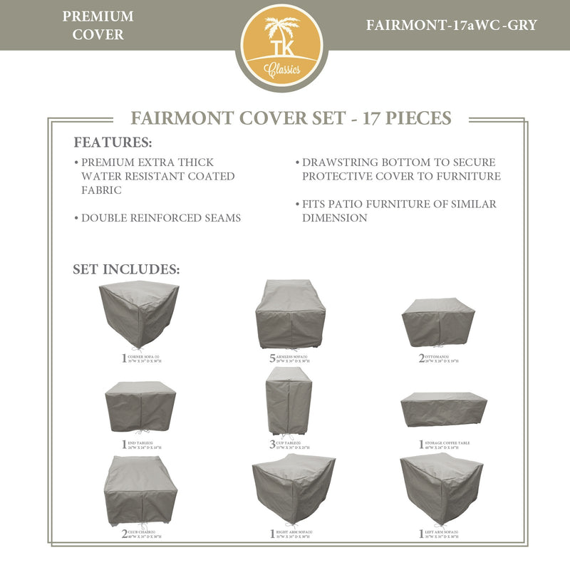 FAIRMONT-17a Protective Cover Set, in Grey