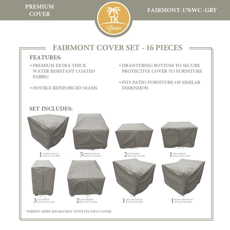 FAIRMONT-17b Protective Cover Set, in Grey