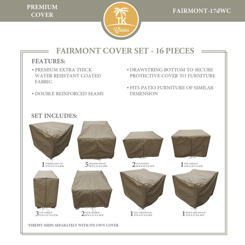 FAIRMONT-17d Protective Cover Set, in Beige