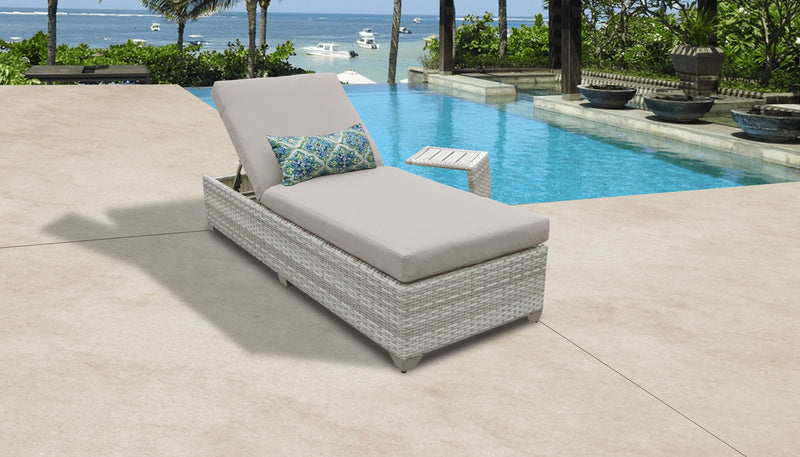 Fairmont Chaise Outdoor Wicker Patio Furniture With Side Table