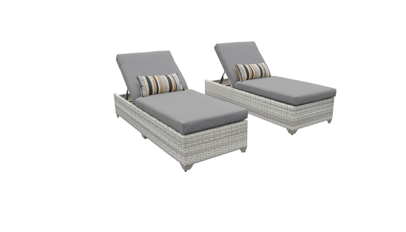 Fairmont Chaise Set of 2 Outdoor Wicker Patio Furniture