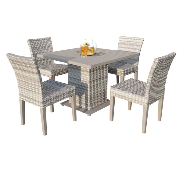 Fairmont Square Dining Table with 4 Chairs Without Cushions