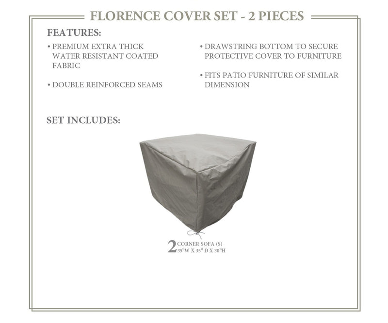 FLORENCE-02a Protective Cover Set, in Grey