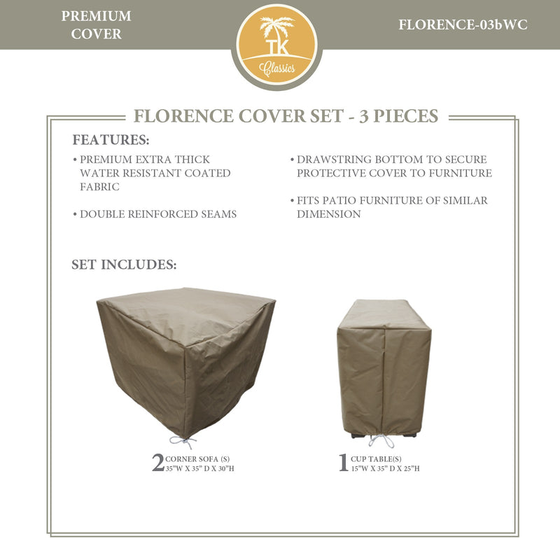 FLORENCE-03b Protective Cover Set, in Beige