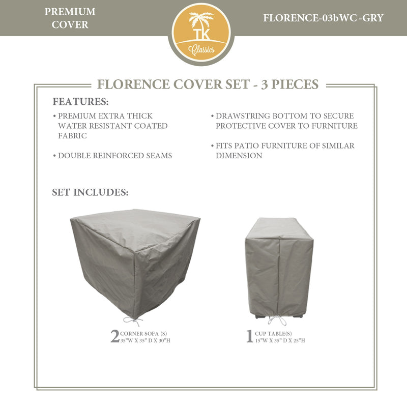 FLORENCE-03b Protective Cover Set, in Grey