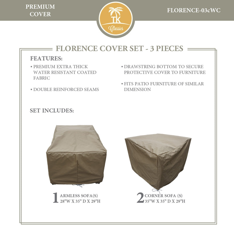 FLORENCE-03c Protective Cover Set, in Beige