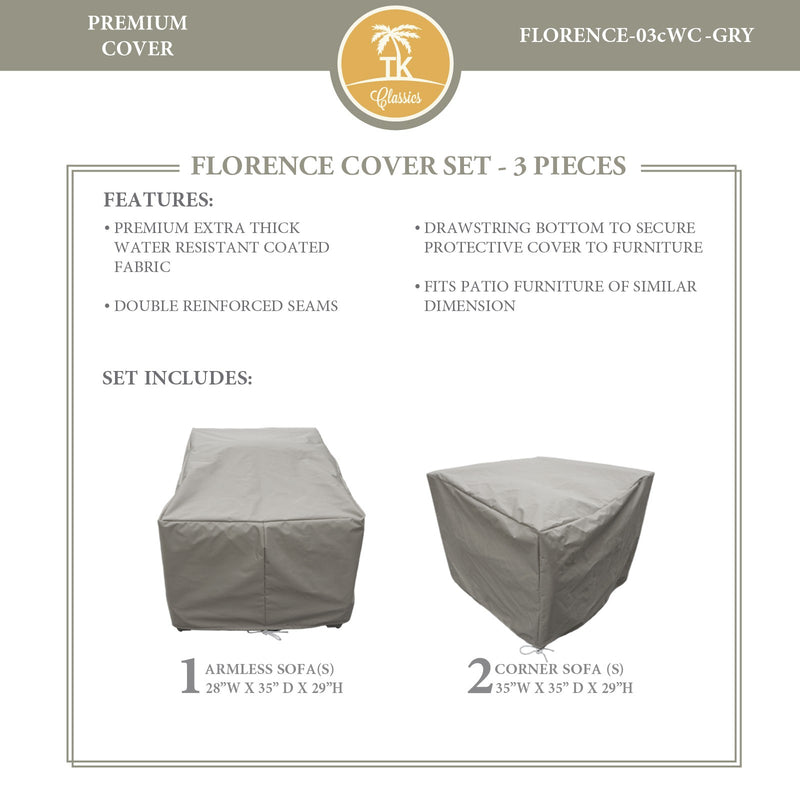 FLORENCE-03c Protective Cover Set, in Grey