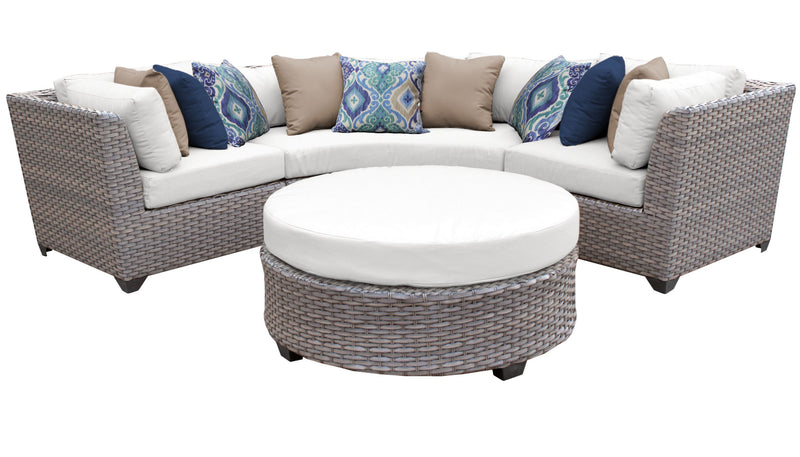 Florence 4 Piece Outdoor Wicker Patio Furniture Set 04a