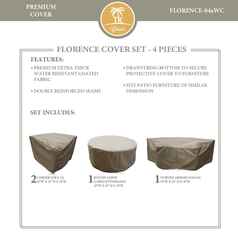 FLORENCE-04a Protective Cover Set, in Beige