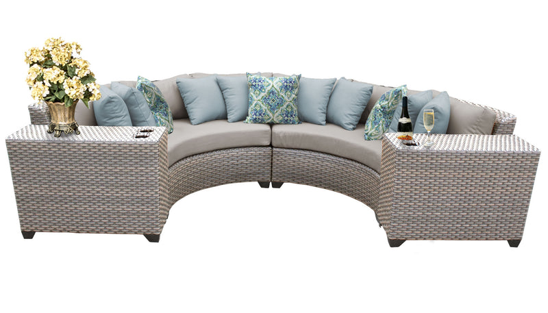 Florence 4 Piece Outdoor Wicker Patio Furniture Set 04c