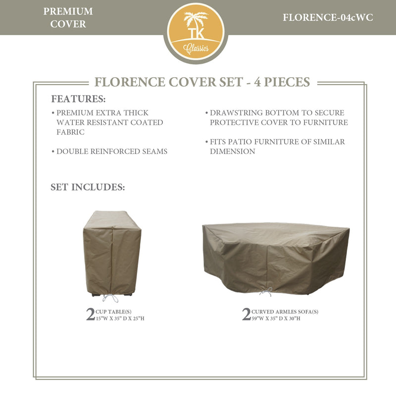 FLORENCE-04c Protective Cover Set, in Beige