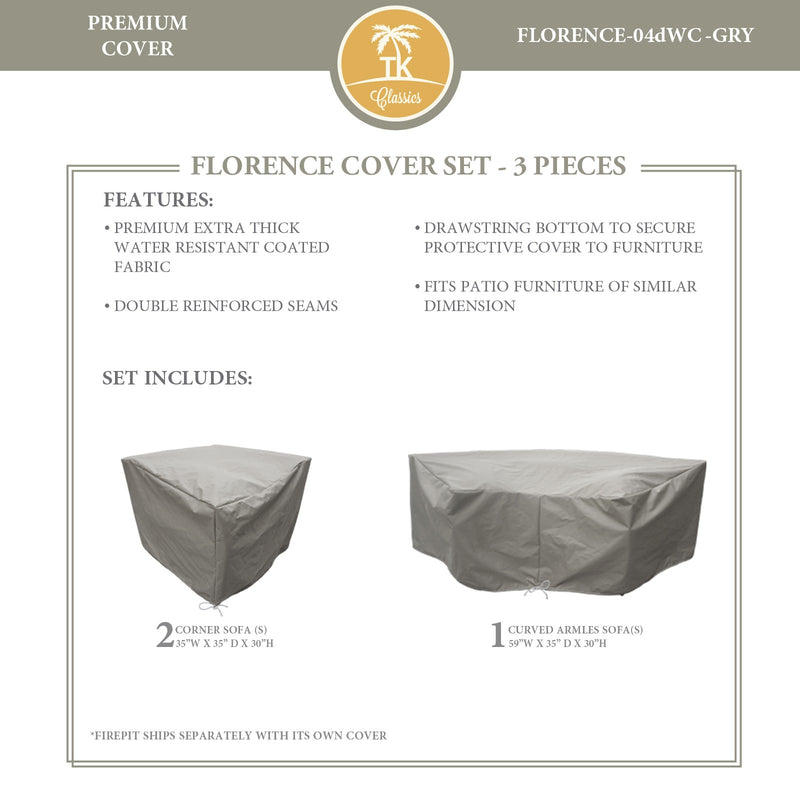 FLORENCE-04d Protective Cover Set, in Grey