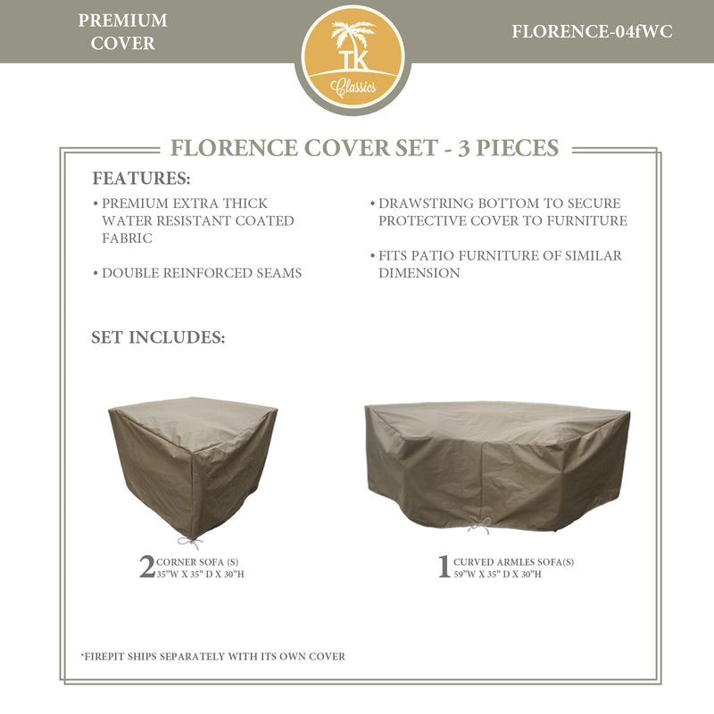 FLORENCE-04f Protective Cover Set, in Beige