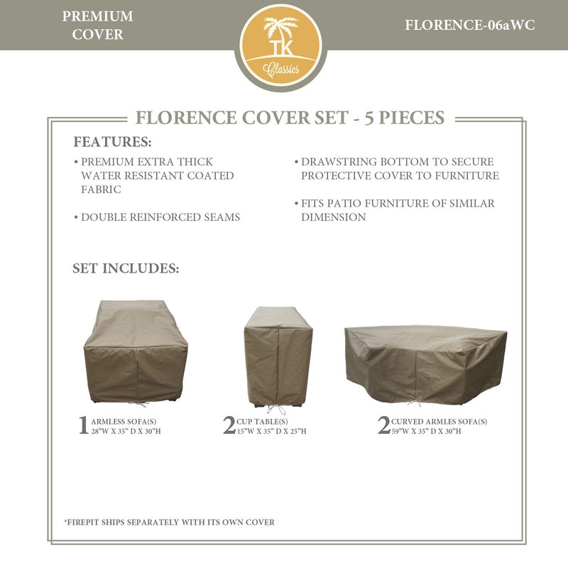 FLORENCE-06a Protective Cover Set, in Beige