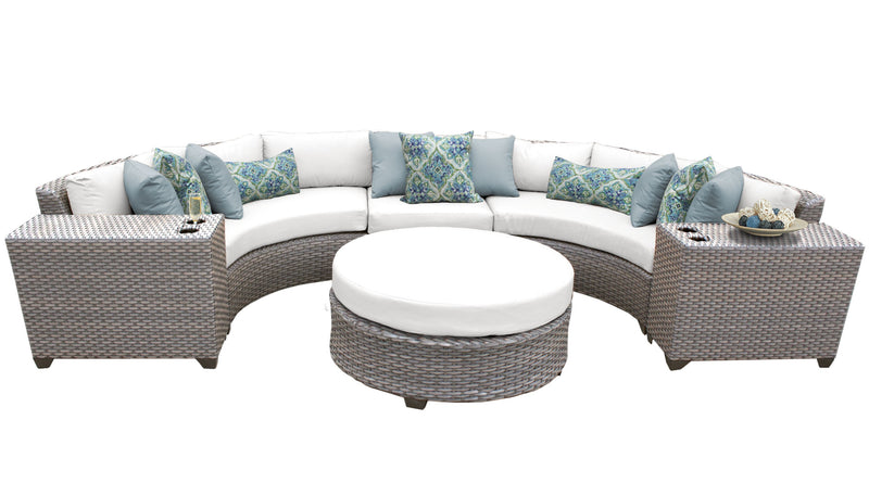 Florence 6 Piece Outdoor Wicker Patio Furniture Set 06c