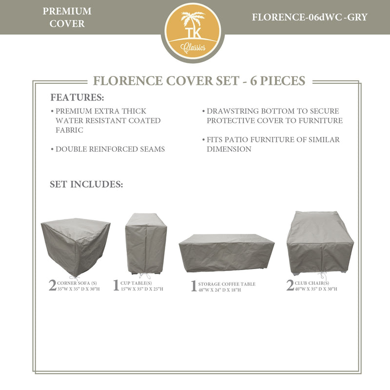 FLORENCE-06d Protective Cover Set, in Grey