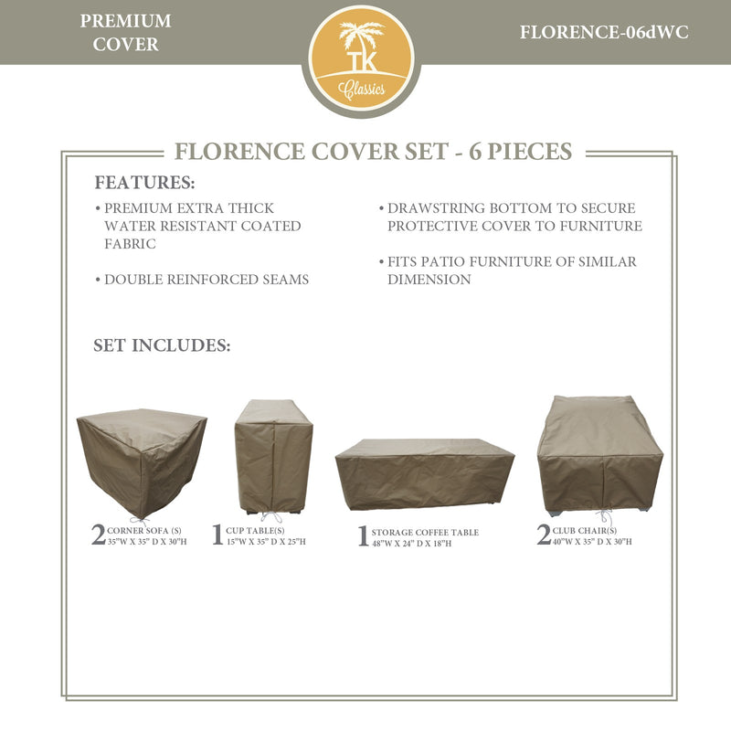 FLORENCE-06d Protective Cover Set, in Beige