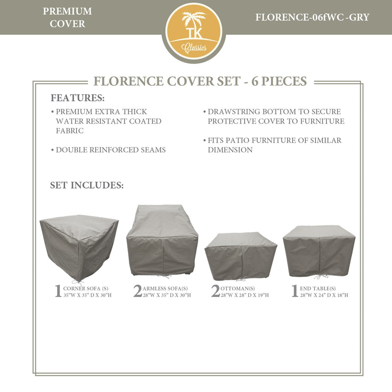 FLORENCE-06f Protective Cover Set, in Grey