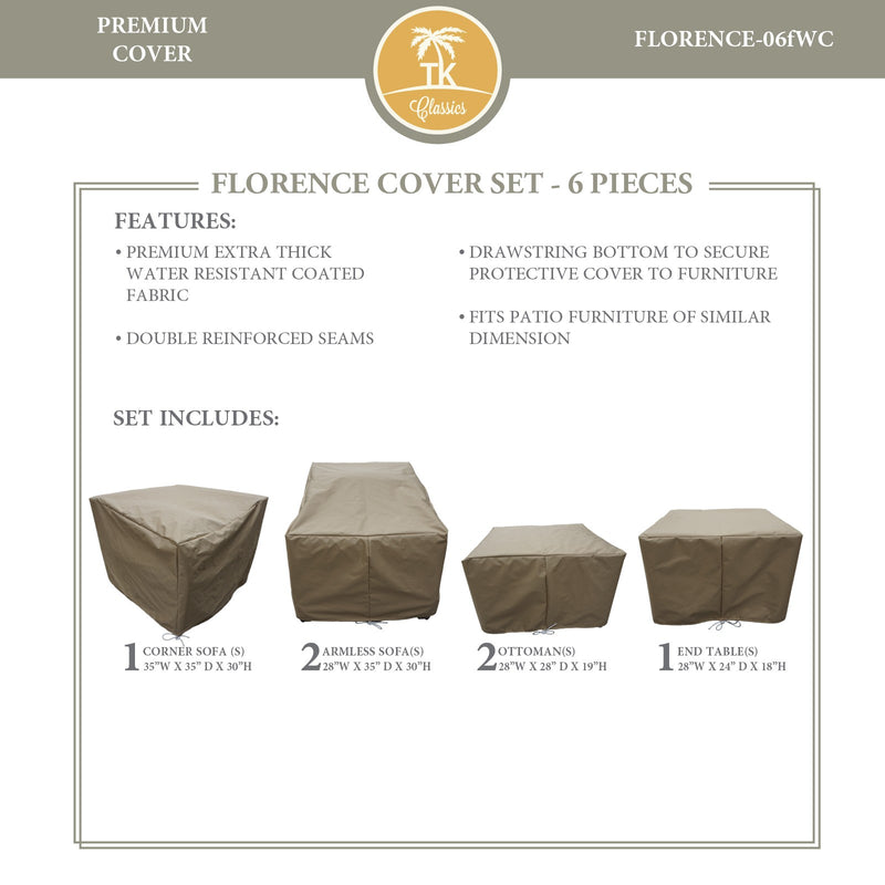 FLORENCE-06f Protective Cover Set, in Beige