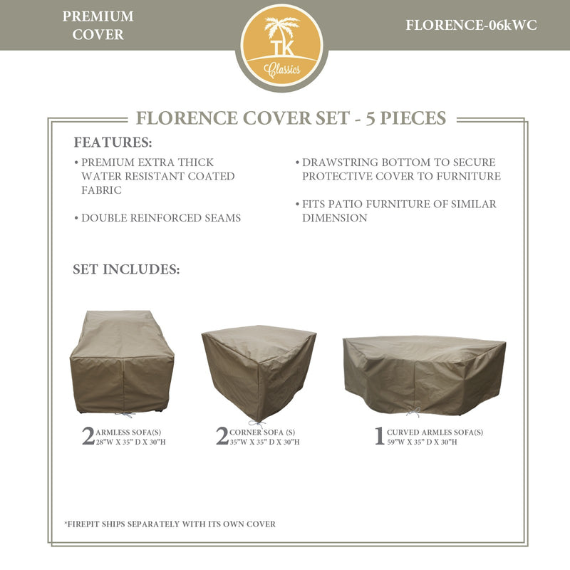 FLORENCE-06k Protective Cover Set, in Beige