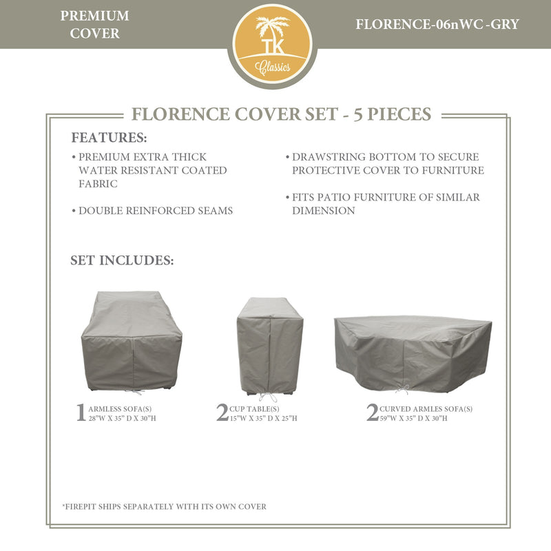 FLORENCE-06n Protective Cover Set, in Grey