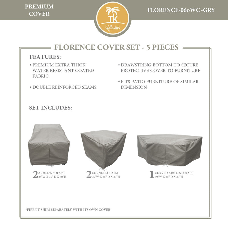 FLORENCE-06o Protective Cover Set, in Grey