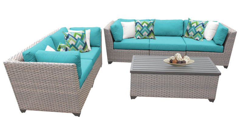 Florence 6 Piece Outdoor Wicker Patio Furniture Set 06p