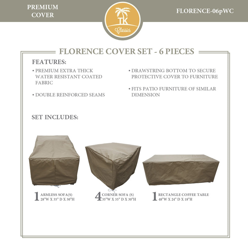 FLORENCE-06p Protective Cover Set, in Beige