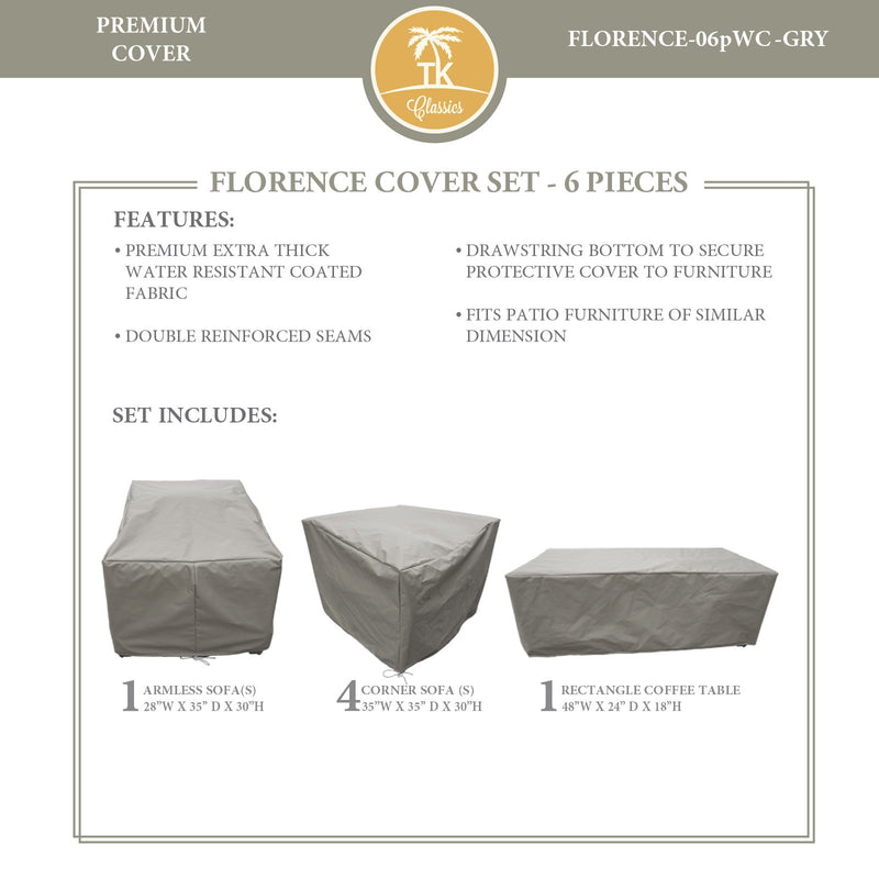 FLORENCE-06p Protective Cover Set, in Grey
