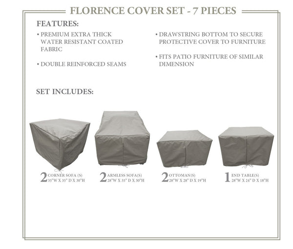FLORENCE-07a Protective Cover Set, in Grey