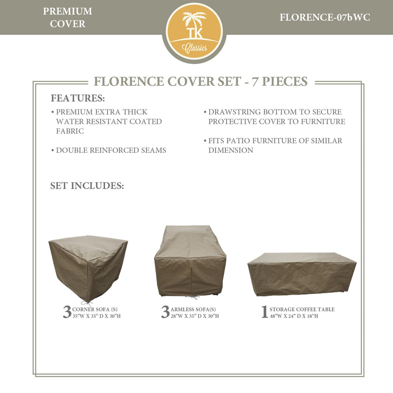 FLORENCE-07b Protective Cover Set, in Beige