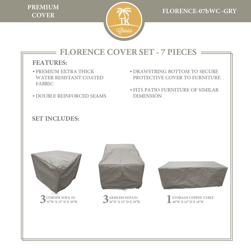 FLORENCE-07b Protective Cover Set, in Grey