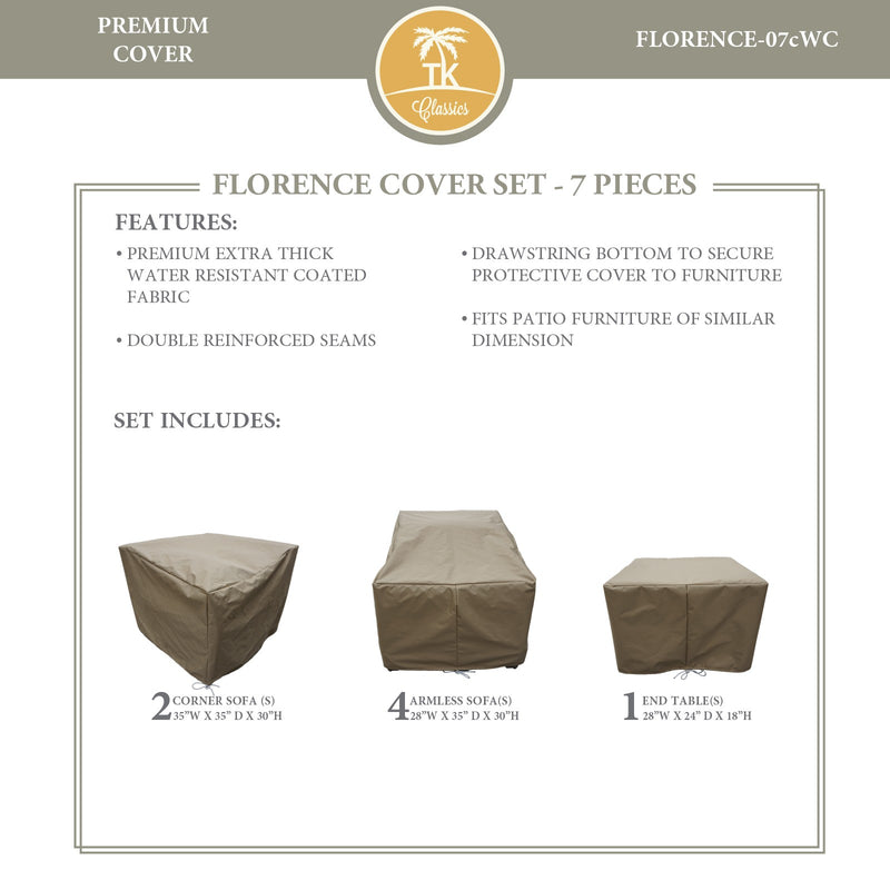 FLORENCE-07c Protective Cover Set, in Beige