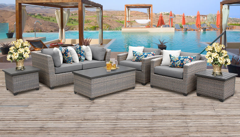 Florence 7 Piece Outdoor Wicker Patio Furniture Set 07d