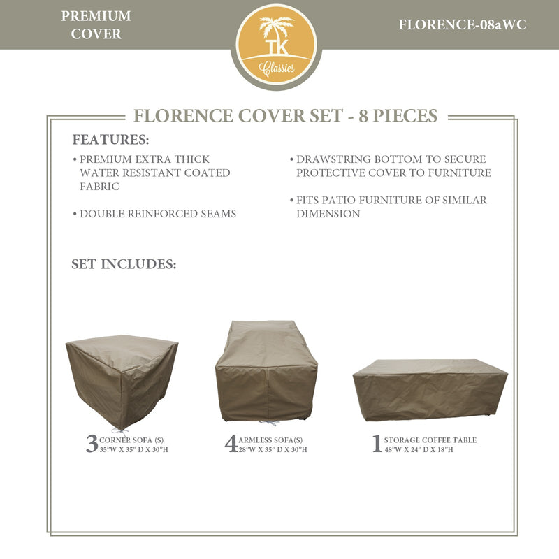 FLORENCE-08a Protective Cover Set, in Beige