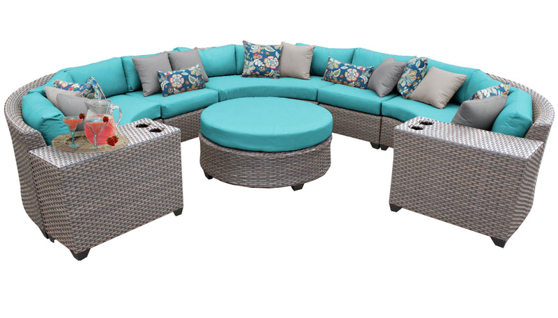 Florence 8 Piece Outdoor Wicker Patio Furniture Set 08b