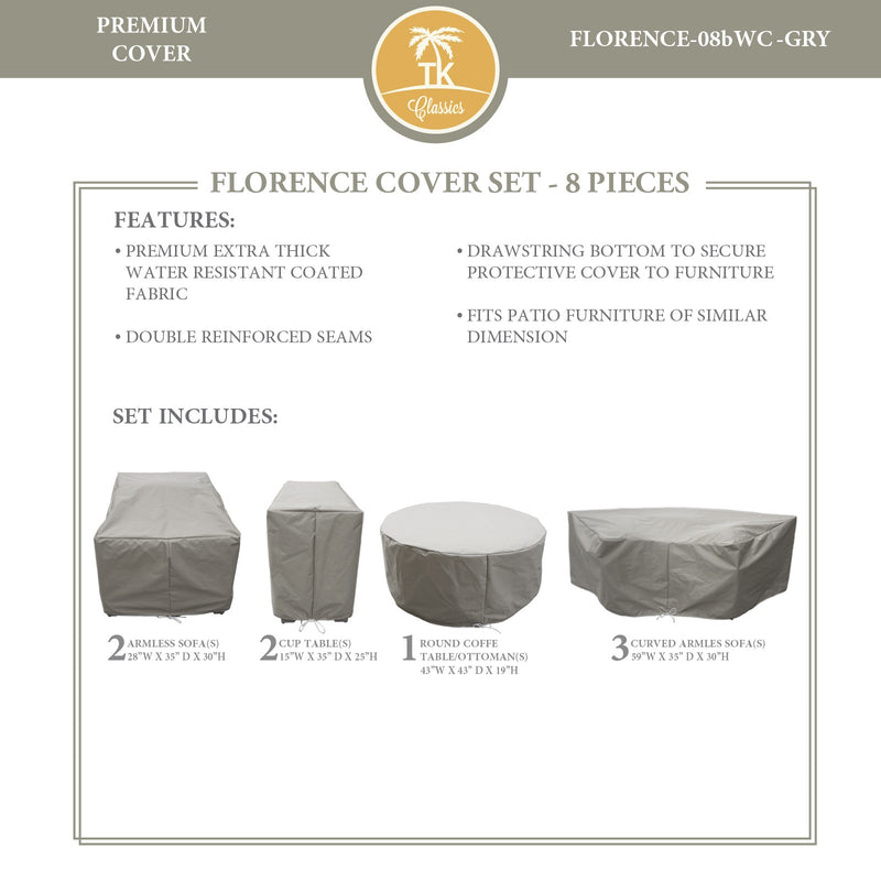 FLORENCE-08b Protective Cover Set, in Grey