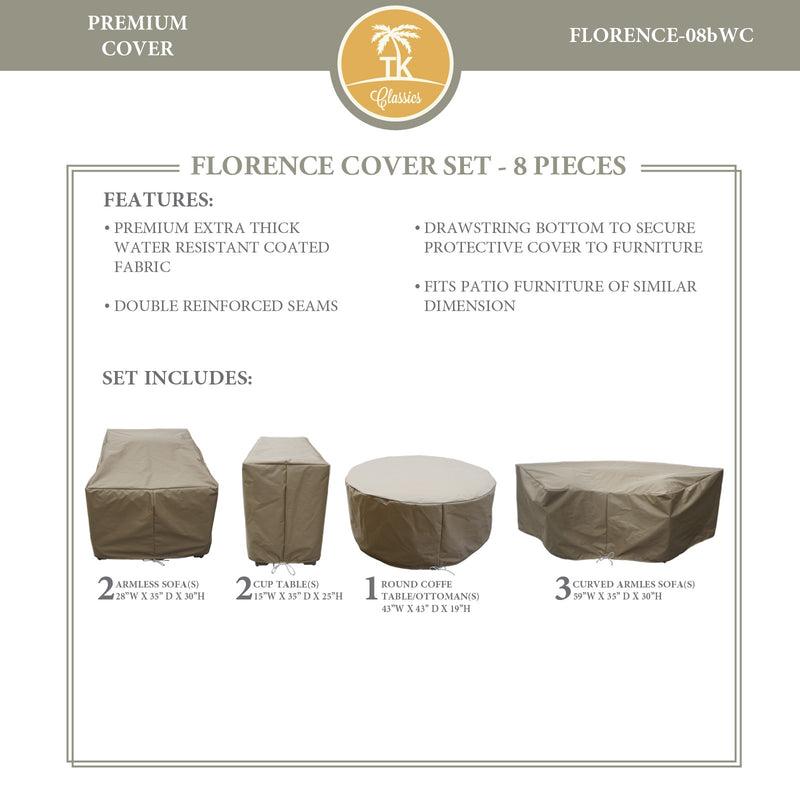 FLORENCE-08b Protective Cover Set, in Beige