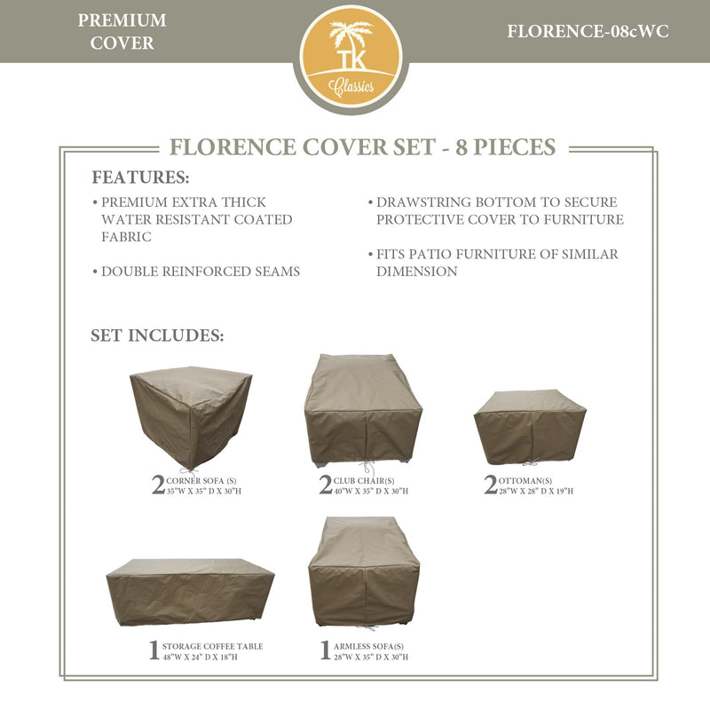 FLORENCE-08c Protective Cover Set, in Beige