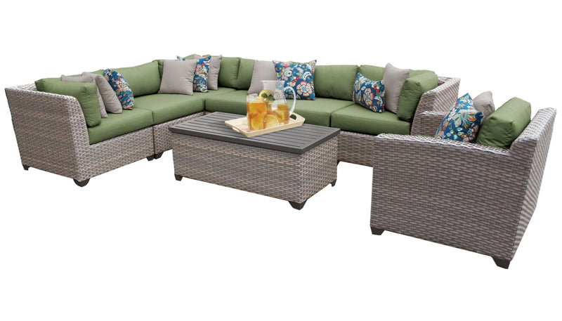 Florence 8 Piece Outdoor Wicker Patio Furniture Set 08d